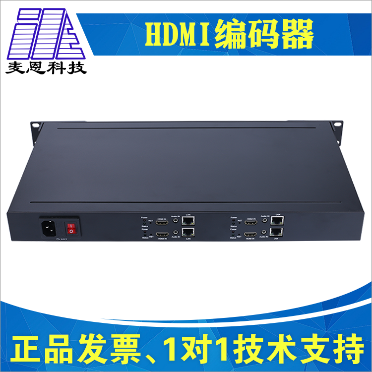 Mann H.265/H.264 Industrial SDI/HDMI4 Frame Video Live Broadcaster Encoder 1U Chassis