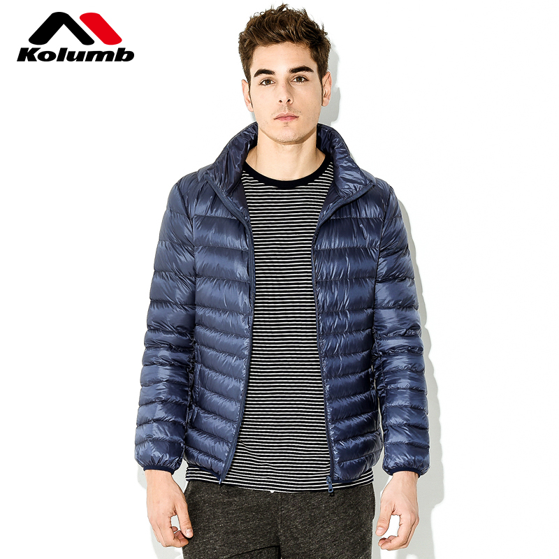 Columbus outdoor down jacket male short paragraph white duck down 2018 spring new men's collar casual men's jacket