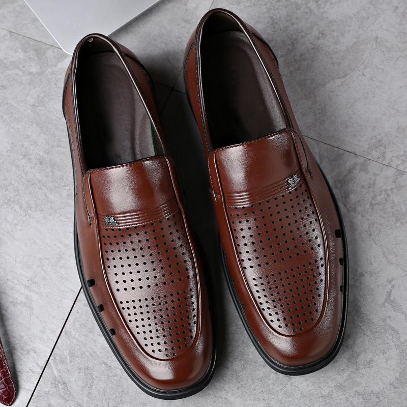 Giày da nam, chất liệu da cao cấp, thiết kế thoáng mát, phù hợp với người làm kinh doanh