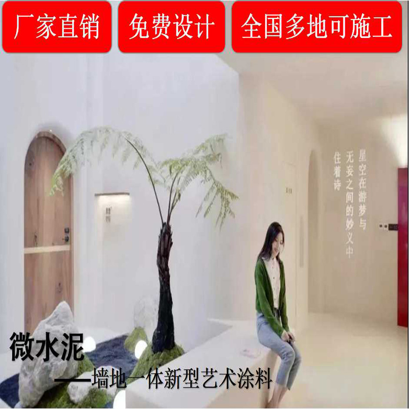Micro-cement wall floor one paint art paint interior and exterior decoration material wall paint cement paint door-to-door construction