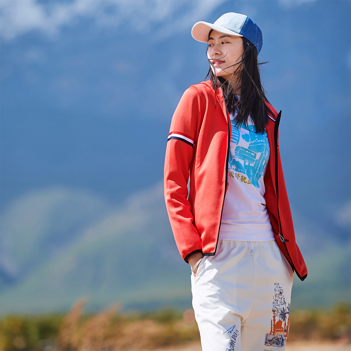 Beijing forest outdoor homemade autumn on the new fitness quick dry hooded hiking jacket running coat big size women