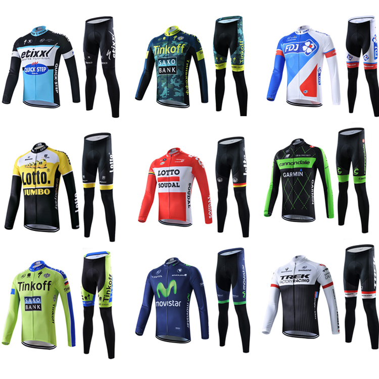 Spring, Autumn and Summer Fast-drying Long-sleeved Cycling Suit for Men and Women Mountain Bike Team Edition Customized Tops and Trousers Bigger Size