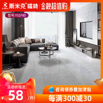800X800 tiles, grey marble living room floor tiles, modern Nordic wear-resistant floor tiles, ash