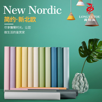 Wallpaper self-adhesive bedroom warm waterproof wall sticker room decoration ins dormitory net red wallpaper 3D Nordic wind sticker