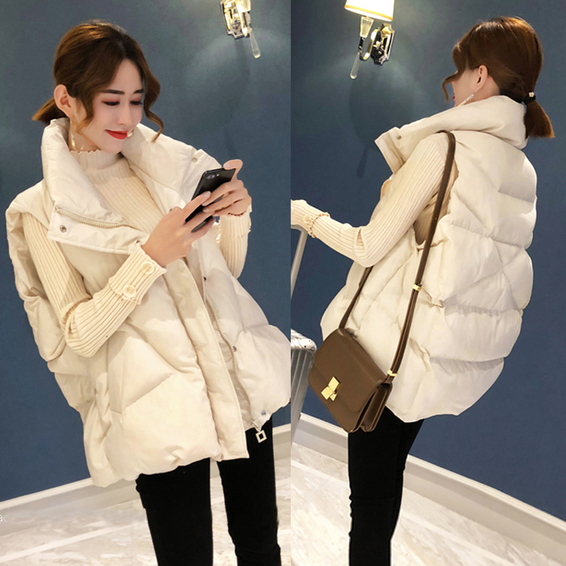 Down cotton short version of the vest womens 2020 autumn and winter new Korean version of loose large size thick coat sleeveless horse clip female tide