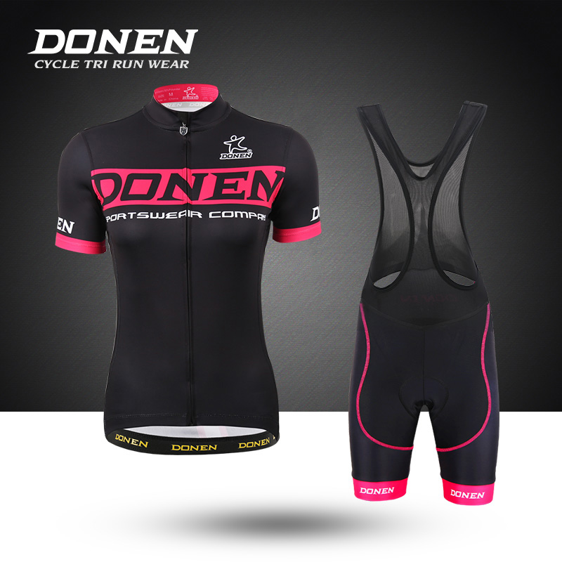 DONEN Darn Cycling Suit Women's Suit Spring and Summer Mountain Bike Short Sleeve Backstrap Trousers Thin Bicycle Costume Ready Customized