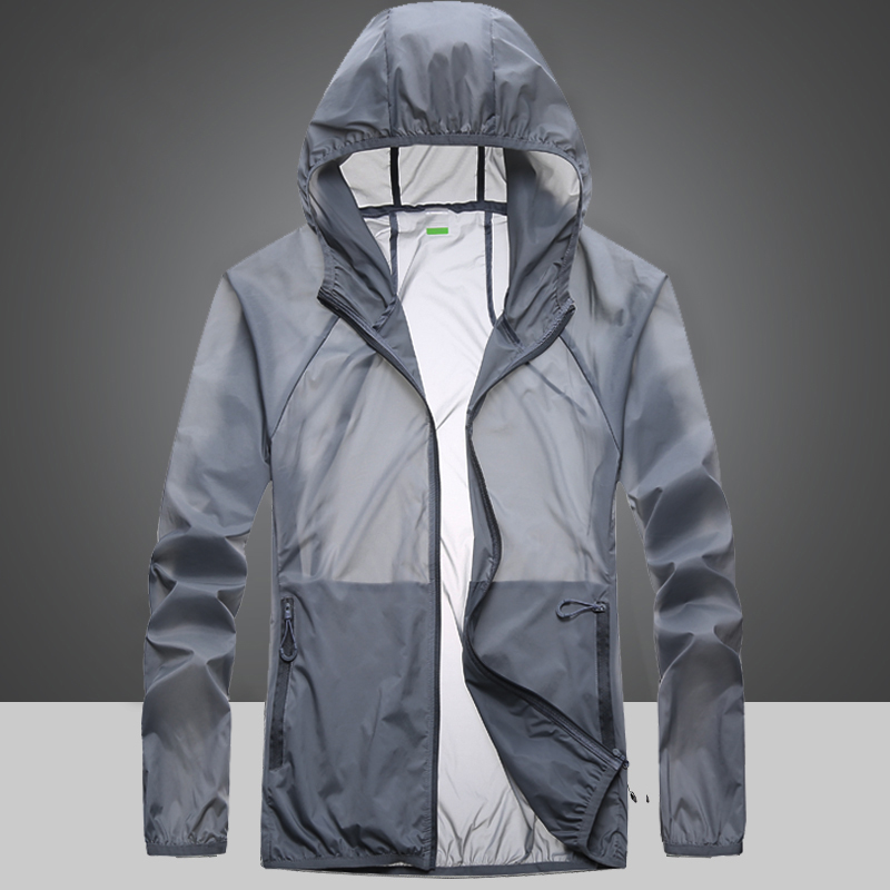 Sunscreen mens summer ultra-thin breathable sun protection mens UV skin clothing womens outdoor waterproof fishing suit