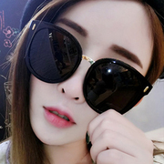 Round 2017 polarized retro tide female Sunglasses big box thin Sunglasses star Korean personality glasses long face