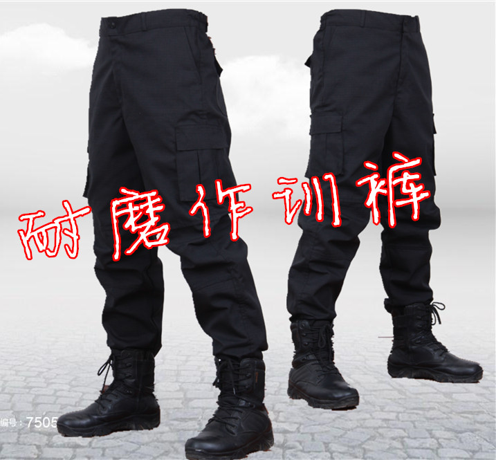 Special Forces Tactical Combat Trousers Tools Wear-Resistant and Scratch-Resistant Security Training Clothes Under Trousers Spring Camouflage Army Trousers Man Qiu