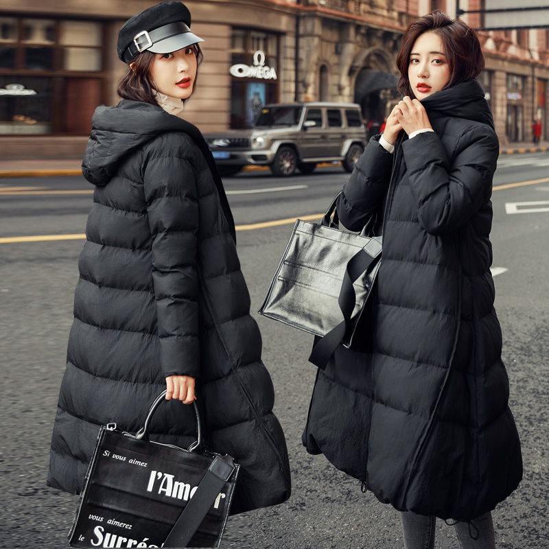 Pregnant women down cotton clothing womens winter pregnancy later medium and long version of cotton wool pregnant womens winter coat 2020 new cotton clothing tide
