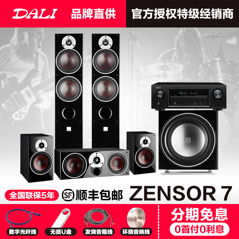 Danish DALI/Dani Conference Code 7 home theater audio 5.1 speaker set 12 inch subwoofer send power amplifier