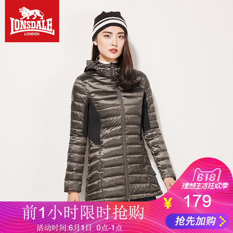 Dragon and Lion Dell Winter 2019 Women's Hat Down Dresses, Medium and Long-style Slimming Women's Dresses, Leisure Fashion Jacket and Cotton Clothes