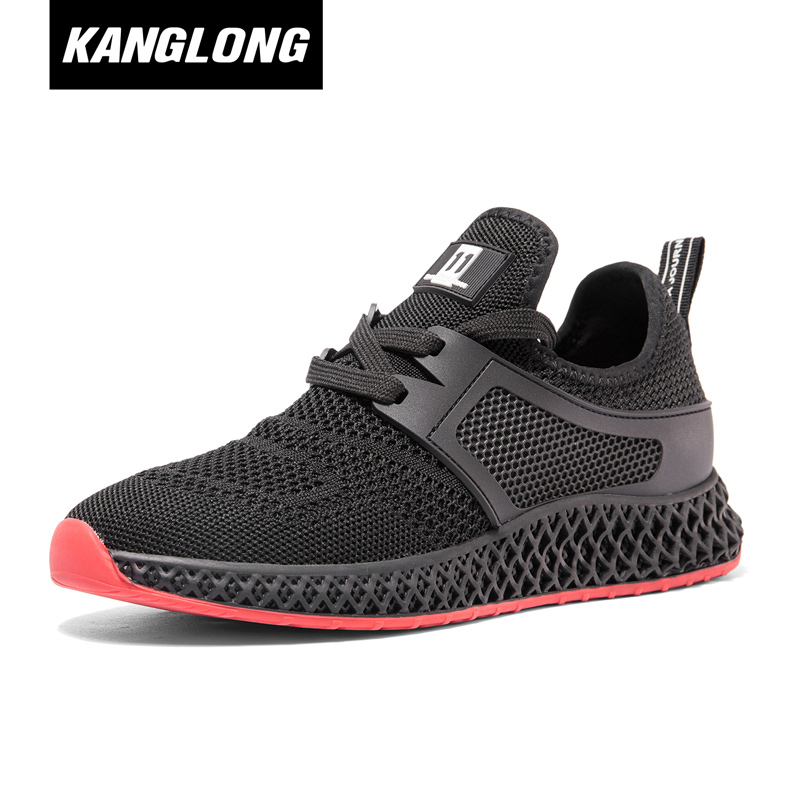[Store delivery] Kanglong women's shoes 2018 autumn new fashion comfortable casual sports trend flying woven women's shoes