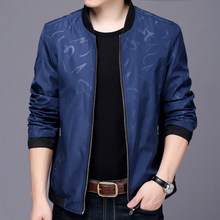 Spring and Autumn 2018 new spring men's jacket thin section casual collar men's jacket business casual middle-aged jacket men