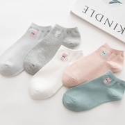 Socks socks children Korea cute socks and shallow mouth of autumn and winter in thick cotton invisible stockings Korean Academy