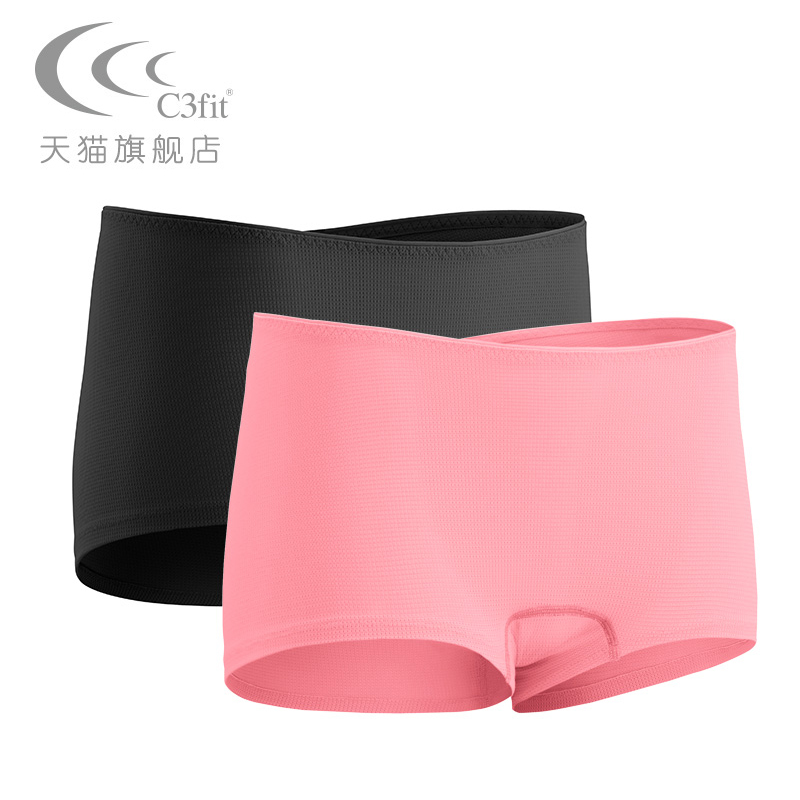 C3fit Outdoor Sports Fast-drying Air-breathing Running Fitness Mountaineering Sweat-absorbing Flat Angle Pure Underwear Women