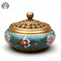 Siyou Jingtai blue incense furnace pure copper sandalwood wire incense inserted for the Buddha home indoor purification air plate incense oven