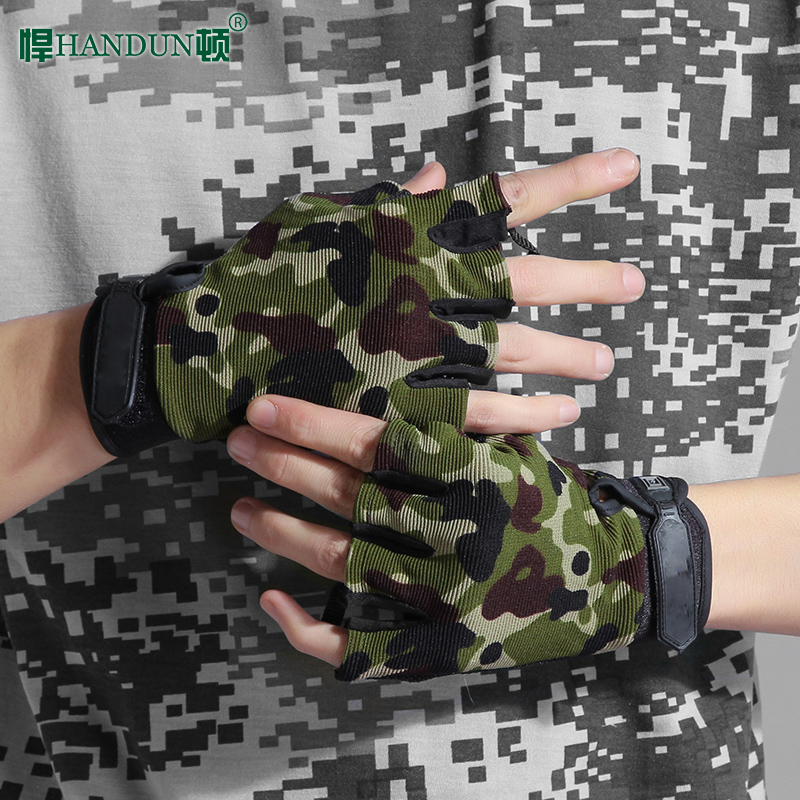 Humton thin skid-proof autumn refers to men and women cycling Half Finger outdoor climbing fitness gloves