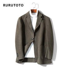 RURU & TOTO Spring and Autumn Double-sided Niko Suit Korean Edition Slim Wool Suit Wool Overcoat Men's Short Niko