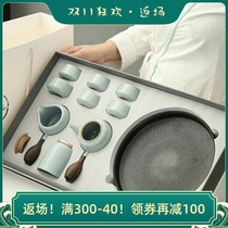 Чай набор офис с керамической высокого класса могут быть подняты чтобы открыть кусок гостевой печи домашнего чая кунгфу чай набор