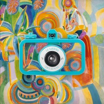 Vintage lomo camera LaSardina sardine 135 film machine Robert Delaunay oil painting limited