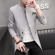 The man in the suit coat collar Korean young slim Tunic Suit Jacket Suit autumn tide
