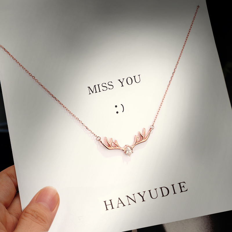 Swarovski Yilu has your necklace, female pure silver niche brand ins cold wind clavicle chain birthday gift
