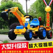 Children can sit on large electric excavator excavator boy toy car truck hook machine 2-3-6