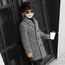 Children 's clothing 2017 winter new woolen coat children in the long section of the wool coat Korean boy trench coat