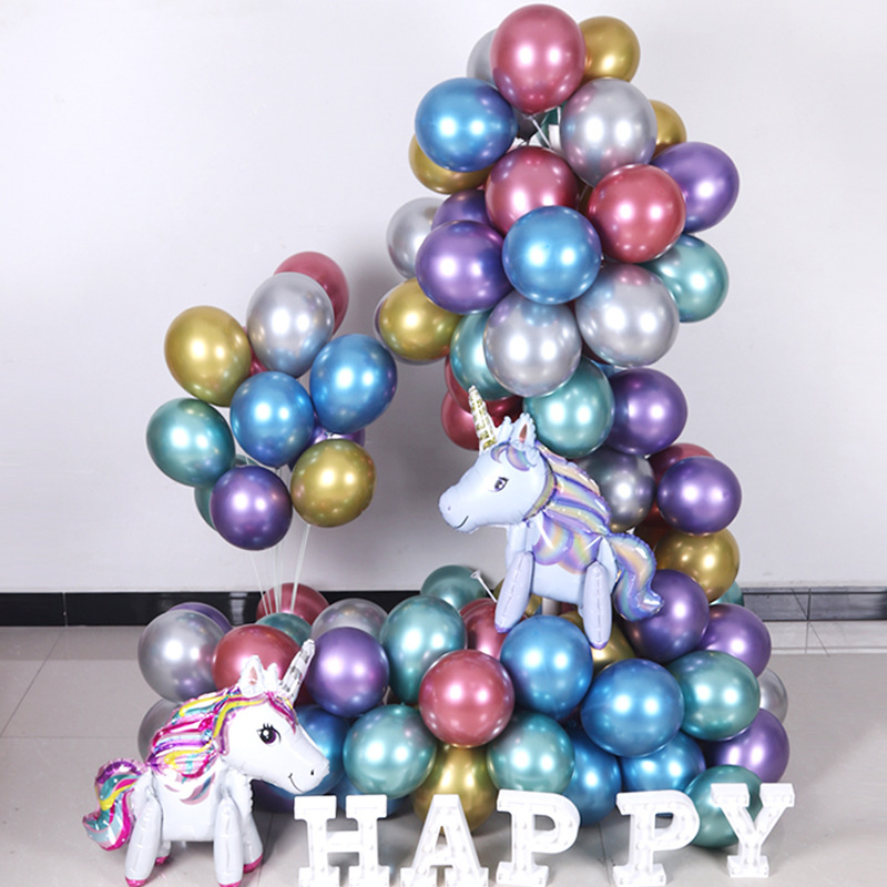 The 12-inch 2.8g 10in 1.8g balloon thickened metallic balloon wedding party decorates the balloon
