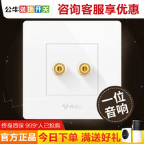 Bull a multimedia audio sound panel Type 86 Wall home concealed speaker connector power outlet