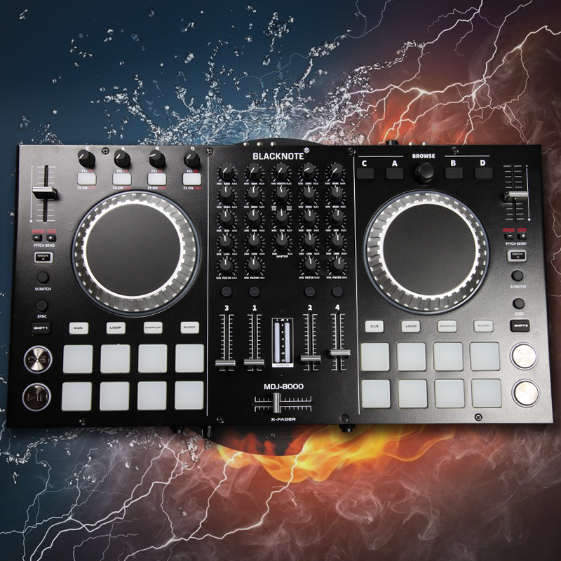Italy BLACKNOTE DJ controller MIDI controller digital computer disc player four-way with mat