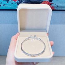 Starry bell 999 silver bracelet Female sterling silver young model simple foot silver bracelet Wild student silver jewelry gift
