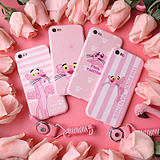 Cartoon bear flat powder leopard iPhone7 phone shell soft silicone sleeve 5S apple 6 / 6PLUS protective sleeve couple