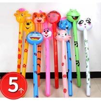 Childrens inflatable toys stall animal hammer child balloon beat baby stick push cartoon creative will call