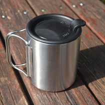 Outdoor Camping Water Cup Stainless Steel Travel Water Cup Water Utensils Tea Tank Portable Thickened Thermal Insulation Anti-scalding Cup