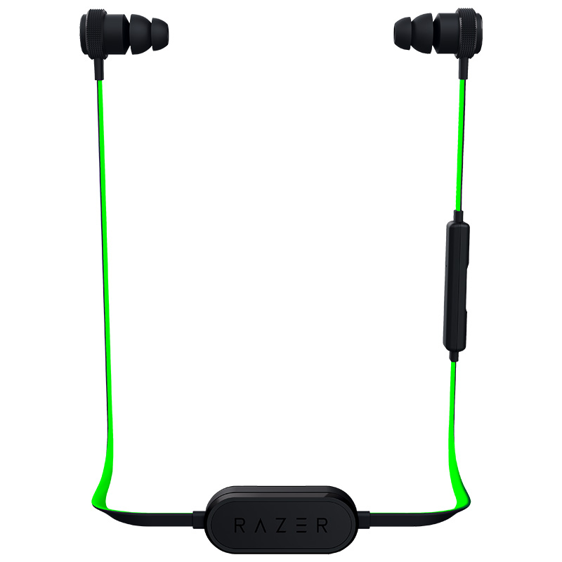 [The goods stop production and no stock]Razer/Thunder snake Warhammer shark BT Bluetooth wireless sports belt wheat line control music game in-ear headphones