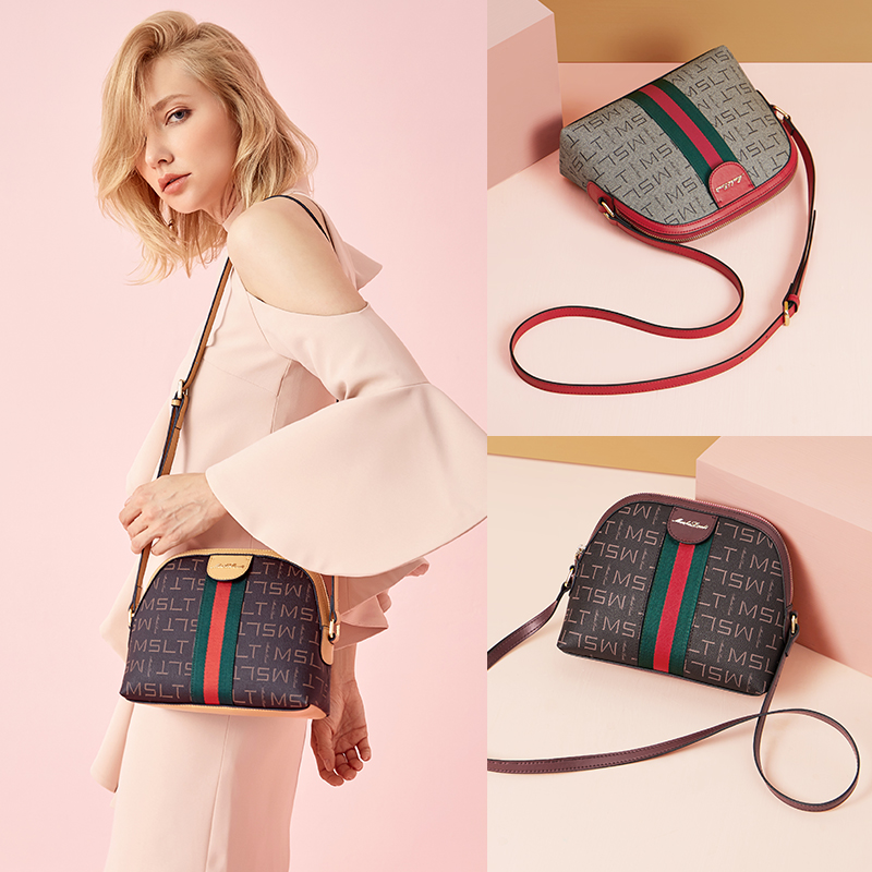 Baggage Girls 2019 New Korean Shell Bag Fashion Baitie Single Shoulder Bag Leisure Simple Slant Baggage Girls Tide
