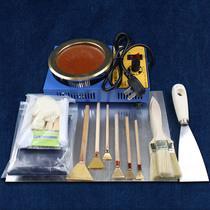 Guizhou Miao manual batik DIY tool material package set wax knife wax melt device indigo powder dye set