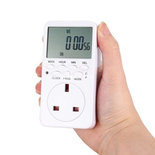 Mini Digital LCD 230V 16A Timer Switch Socket Outlet Plug-in