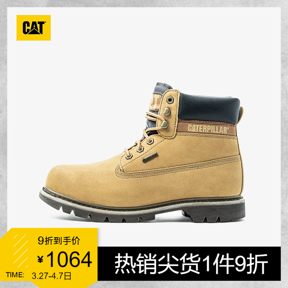 CAT Carter evergreen mens boots waterproof outdoor classic yellow boots breathable Martin boots work boots men