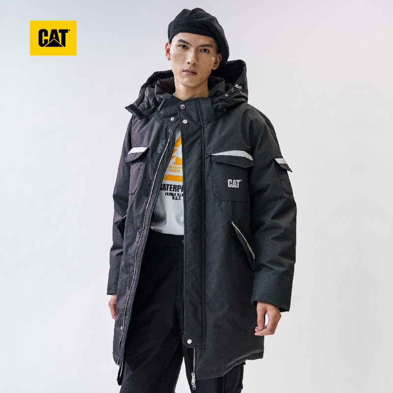 CAT Carter winter down jacket mens energy wind reflector design long down jacket