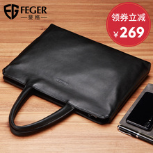 Figg Handbag Men Hand Leather Leisure Bag Fashion Soft Leather Bag Office Bag Business Briefcase Men's Bag