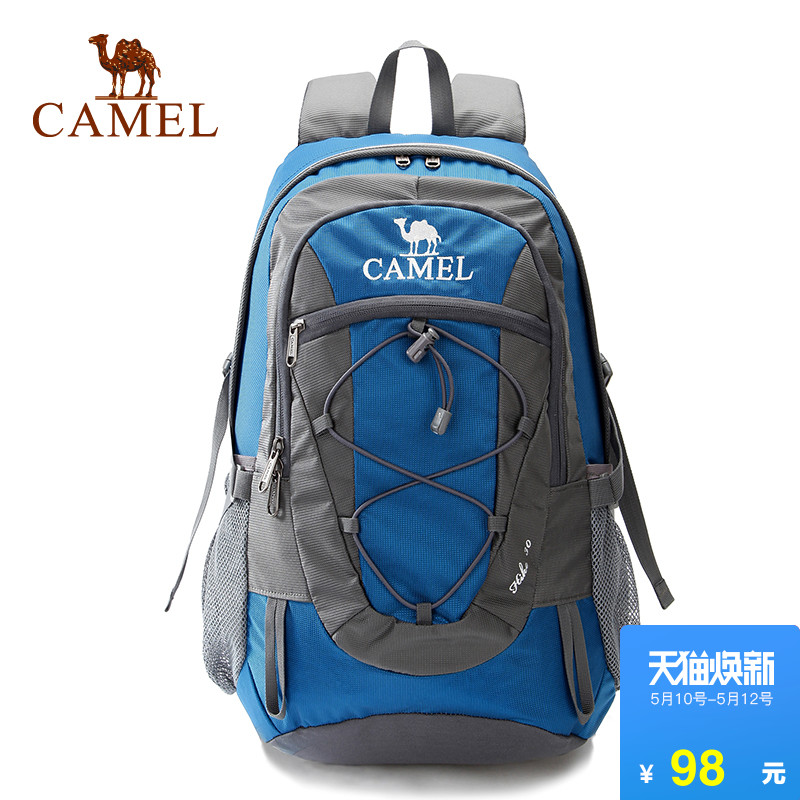 Camel outdoor mountaineering bag 30L camping hiking sports shoulder backpack wear-resisting and Water-Splashing multi-function