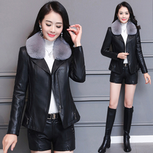 Fur coat 2018 winter dress new Korean version fashionable fur collar short big code thin thickened Pu lint jacket