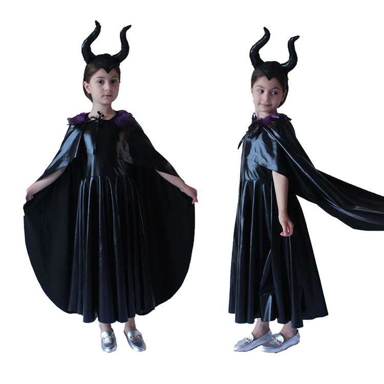 Halloween childrens dark witch sleeping spell COSPLAY costumes move party witch role-playing costumes