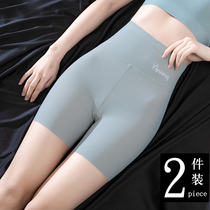 High-waisted safety pants womens summer thin ice silk leggings incognito non-crimping anti-theft insurance shorts two-in-one