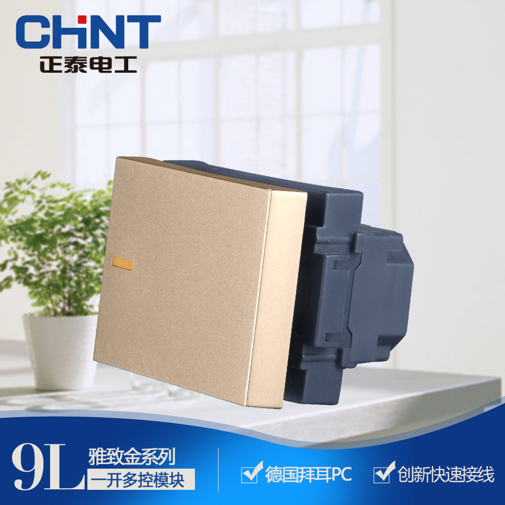 Zhengtai Electric 120 series wall switch NEW9L embedded steel frame in a multi-control module