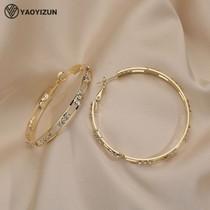 Korean large hoop earrings exaggerated high-grade sense sterling silver circle 2021 new fashion summer ear ring female niche earrings