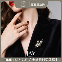 JAY corsage brooch summer high-end womens niche 2021 new fashion design sense pin accessories suit